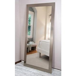 BrandtWorks Silvertone Stainless Floor/Vanity Mirror - Silver