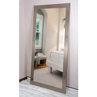 BrandtWorks Silvertone Stainless Floor/Vanity Mirror - Silver|https://ak1.ostkcdn.com/images/products/14155011/P20756649.jpg?impolicy=medium