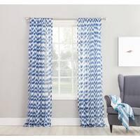 No. 918 Ladonna Split Chevron Semi-sheer Rod Pocket Curtain Panel