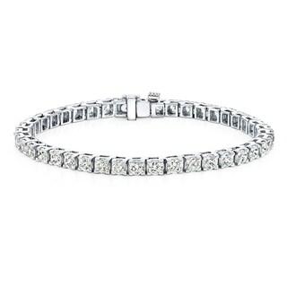 Auriya 14k Gold 9ct TDW Round Cut Diamond Tennis Bracelet (J-K, I2-I3)