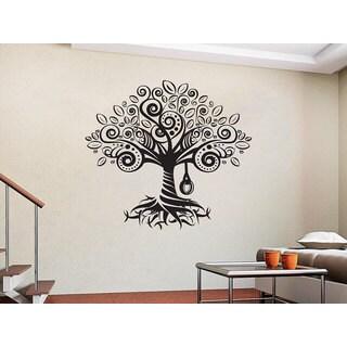 Tree Roots Vinyl Sticker Decals Home Decor Nursery Bedroom Art Design Interior Sticker Decal size 48