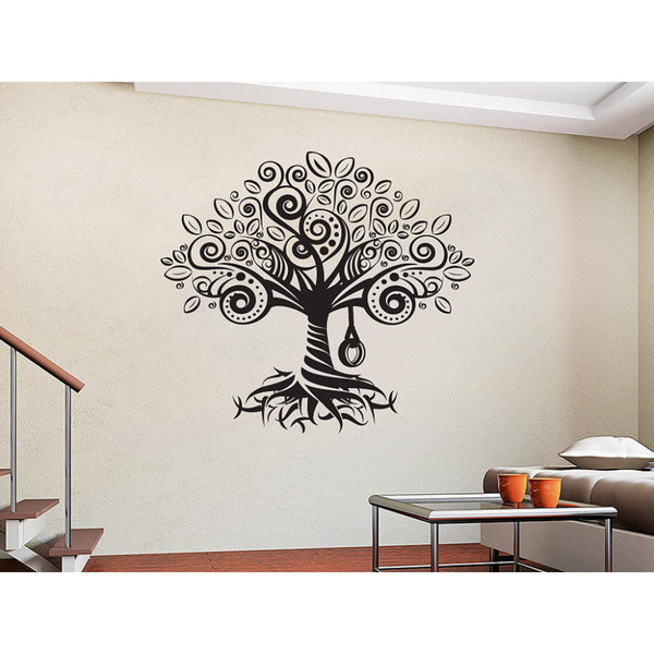 Tree Roots Vinyl Sticker Decals Home Decor Nursery Bedroom Art Design Interior Sticker Decal Size 48x57 Color Black