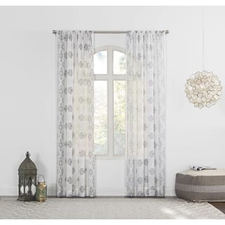 No. 918 Marseilles Distressed Border Print Sheer Curtain Panel|https://ak1.ostkcdn.com/images/products/14155089/P20756651.jpg?impolicy=medium