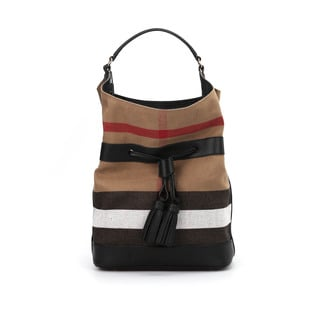 Burberry Susanna Beige Check Bucket Bag