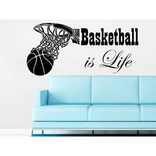 35ca8013a18a Basketball Is Life Wall Decal Quote Basketball Hoop Wall Decals Sports  Sticker Decal size 33x45 Color