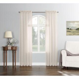 No. 918 Fantina Trellis Clip Woven Sheer Curtain Panel