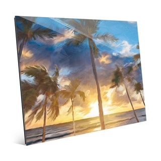 'Sunset Beach' Glass Wall Art Print