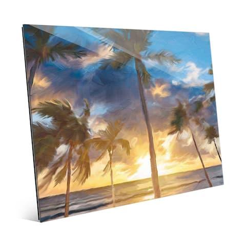 'Sunset Beach' Glass Wall Art Print