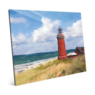 'The Red Lighthouse' Glass Wall Art Print