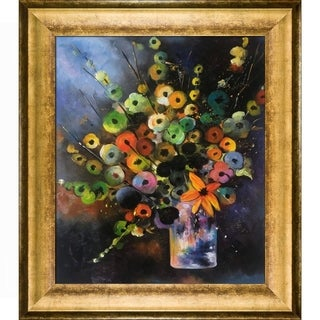 Pol Ledent 'Bunch (451180)' Hand Painted Framed Oil Reproduction on Canvas
