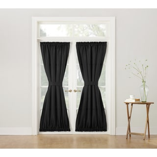 No. 918 Montego Solid Woven Textured Door Curtain Panel