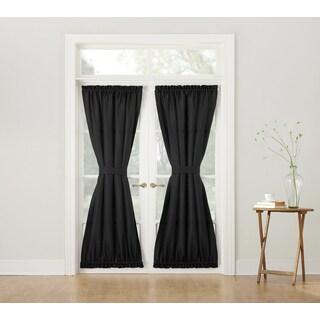 No. 918 Montego Solid Woven Textured Door Curtain Panel