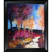 Pol Ledent 'Autumn 6751' Hand Painted Framed Oil Reproduction on Canvas