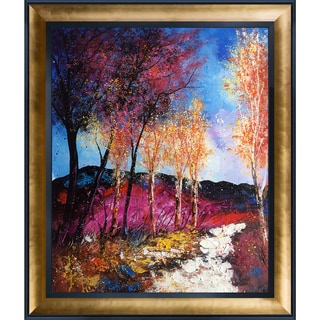 Pol Ledent 'Autumn 6751' Hand Painted Framed Oil Reproduction on Canvas