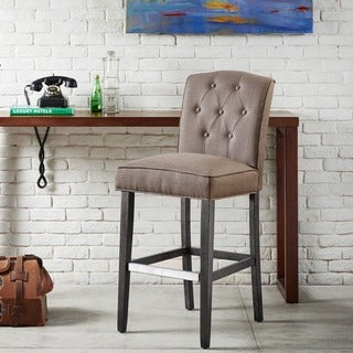 Madison Park Misha Grey Tufted 30-inch Bar Stool