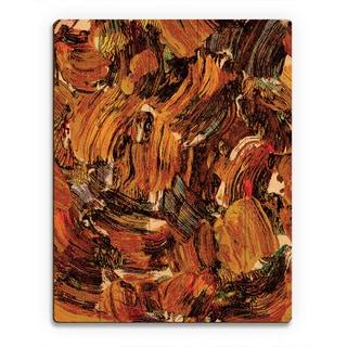 'Bee Swarming' Wooden Wall Art Print