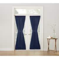 Laurel Creek Brock Blue Rod-pocket Room-darkening Window Door Panel