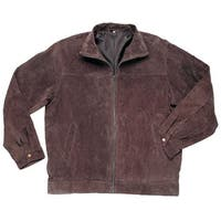 Roberto Amee Men's Big & Tall Brown Suede Jacket