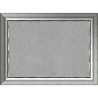 Framed Magnetic Board Choose Your Custom Size, Vegas Curved Silver Wood