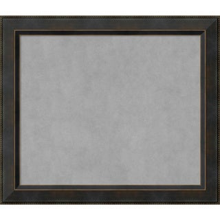 Framed Magnetic Board Choose Your Custom Size, Signore Bronze Wood