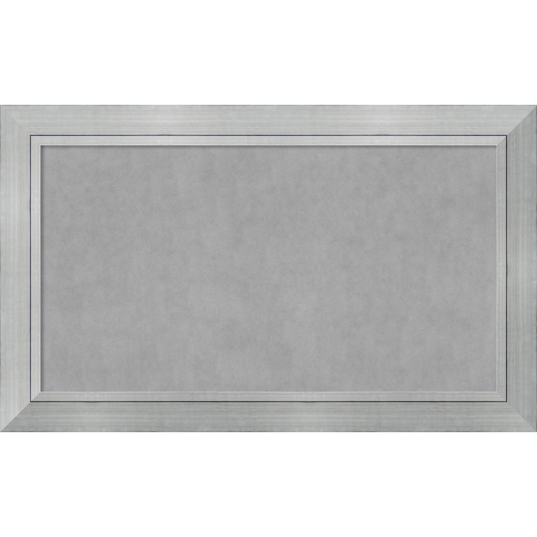 Framed Magnetic Board Choose Your Custom Size, Romano Silver Wood | eBay