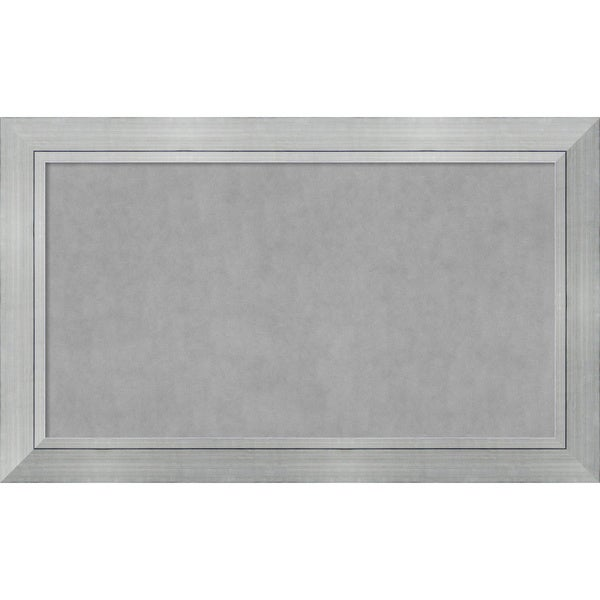 Framed Magnetic Board Choose Your Custom Size, Romano Silver Wood