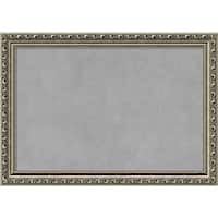 Framed Magnetic Board Choose Your Custom Size, Parisian Silver Wood