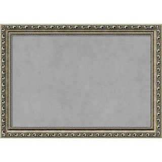 Framed Magnetic Board Choose Your Custom Size, Parisian Silver Wood (More options available)