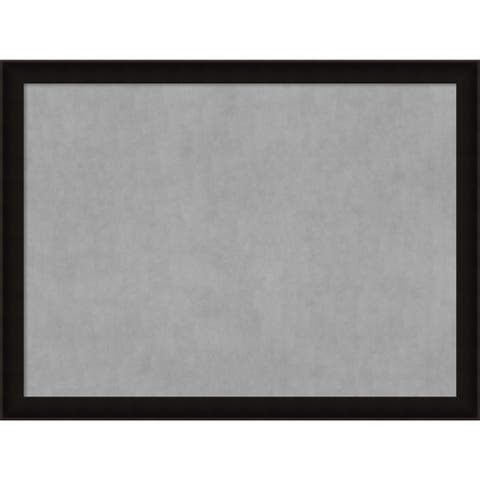Framed Magnetic Board Choose Your Custom Size, Manteaux Black Wood