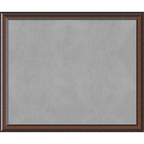 Framed Magnetic Board Choose Your Custom Size, Cyprus Walnut Wood