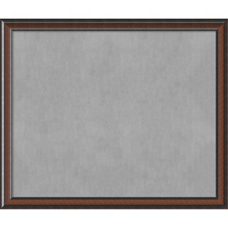 Framed Magnetic Board Choose Your Custom Size, Cyprus Walnut Wood