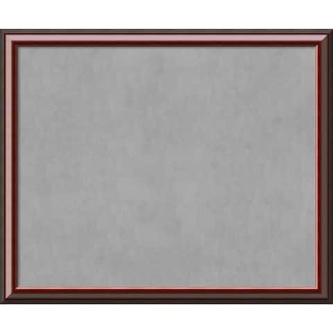 Framed Magnetic Board Choose Your Custom Size, Cambridge Mahogany Wood