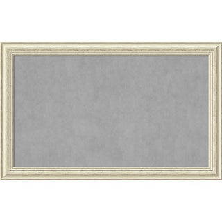 Framed Magnetic Board Choose Your Custom Size, Country White Wash Wood