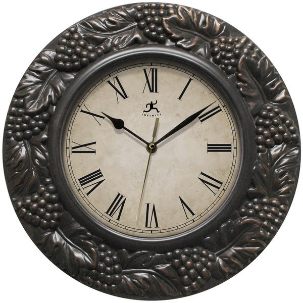Infinity Instruments Napa; a 13.5-inch Round Indoor Wall Clock