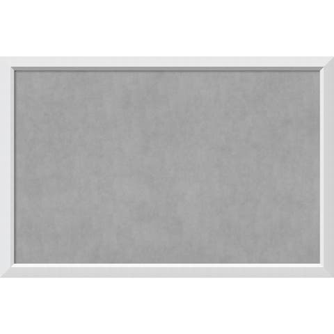 Framed Magnetic Board Choose Your Custom Size, Blanco White Wood