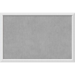Framed Magnetic Board Choose Your Custom Size, Blanco White Wood