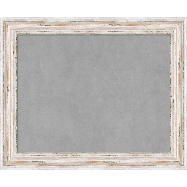 Framed Magnetic Board Choose Your Custom Size, Alexandria White Wash Wood