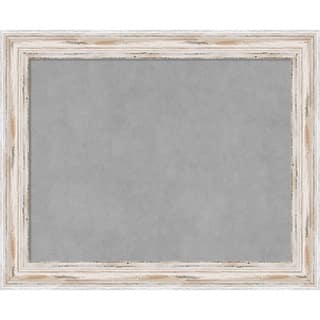 Framed Magnetic Board Choose Your Custom Size, Alexandria White Wash Wood|https://ak1.ostkcdn.com/images/products/14155335/P20756856.jpg?impolicy=medium