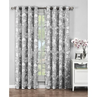 Window Elements Florabotanica Printed 84-inch Extra Wide Grommet Curtain Panel Pair - 104 x 84