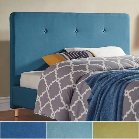 Bettina Button Tufted Linen Fabric Headboard by iNSPIRE Q Modern