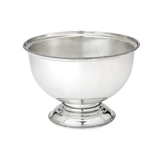 Reed & Barton Heritage Silver-colored Metal Banded Bead Centerpiece Bowl