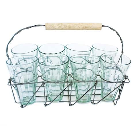 Caravan Tea Caddy Set with 8 Glasses