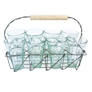 Caravan Tea Caddy Set with 8 Glasses