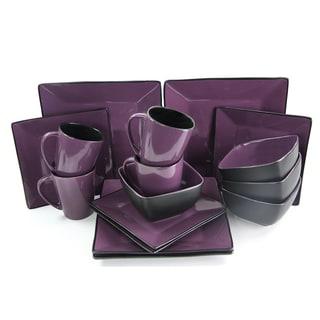 Elama Mulberry Loft 16-piece Premium Stoneware Dinnerware Set (Service for 4)