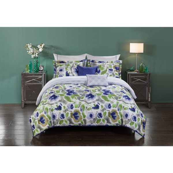 shop stylenest magnolia bed in a bag comforter set on sale free shipping today overstock. Black Bedroom Furniture Sets. Home Design Ideas
