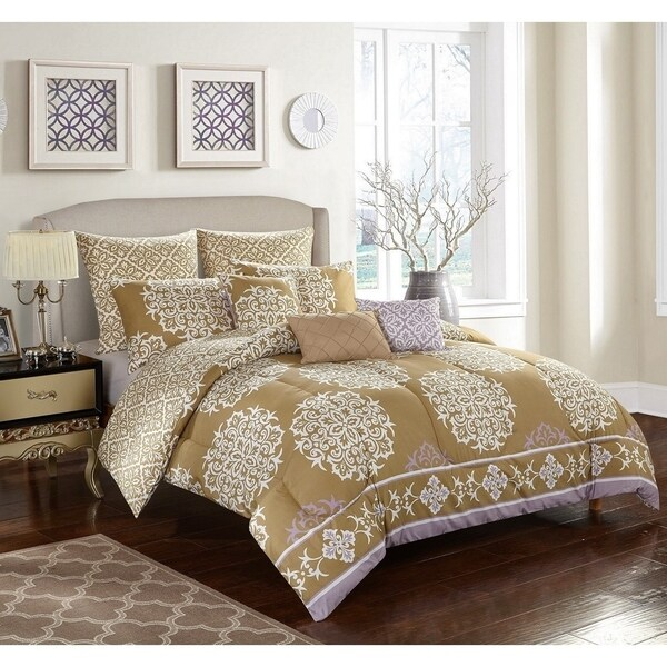 StyleNest Maya Rose 8-piece Bedding Comforter Set