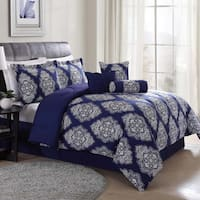 Barba Navy 7-Piece Comforter Set
