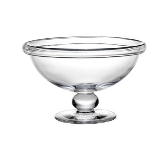 Reed and Barton Blair Clear Glass 12.25-inch Pedestal Bowl