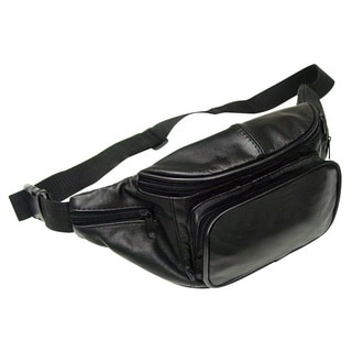 Preferred Nation Black Leather Fanny Pack