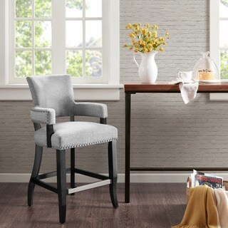 """Madison Park Parler Grey Arm 26-inch Counter Stool - 22.5""""w x 24.5""""d x 40.25""""h"""